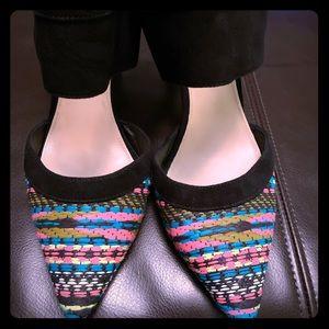 Multicolor Color Dahlia2 Cuff Pumps Mules/Slides -
